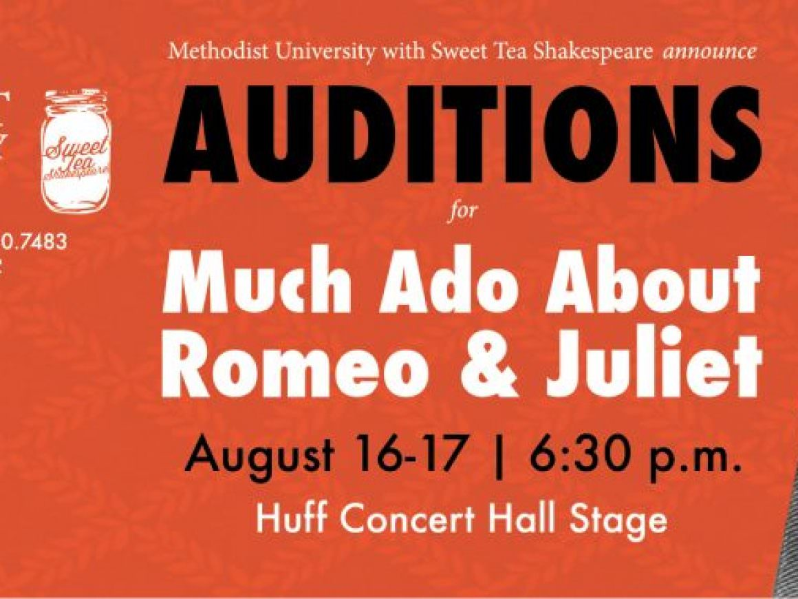 "Auditions: ""Much Ado About Romeo & Juliet"""